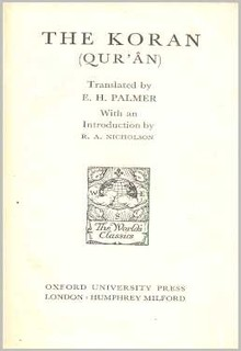 The Koran. Translated by E. H. Palmer